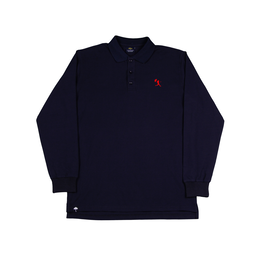 HELAS BALLER LONG SLEEVES POLO - NAVY