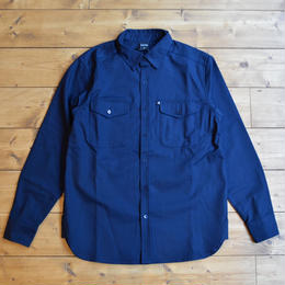 "PASS~PORT ""WORKERS"" HEAVY DRILL OVER SHIRT - NVY"