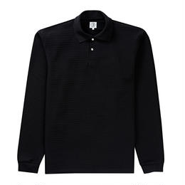 POLAR SKATE CO. STRIPED POLO SHIRT - BLACK