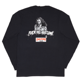 FUCKING AWESOME x THRASHER Trash Me Long sleeve T-shirts Black