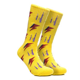 CHRYSTIE NYC RIP SOCKS / YELLOW
