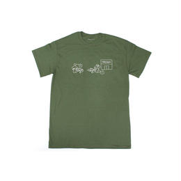 FREE WIFI Customer Service T-shirt Olive Green