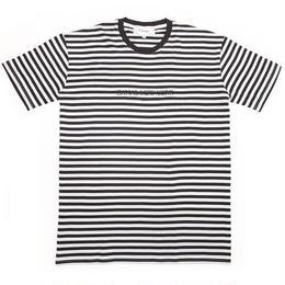 "Canal ""USA"" Striped Tee - Black"
