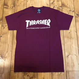 Thrasher Skate Mag  Tee - Maroon