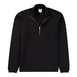 POLAR SKATE CO. PIQUE ZIP NECK - BLACK