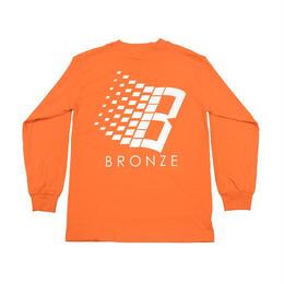 BRONZE56K B LOGO L/S TEE ORANGE