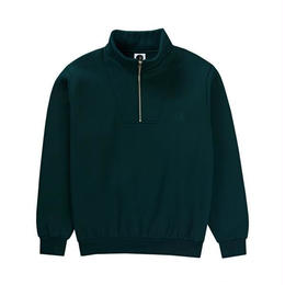 POLAR SKATE CO. ZIP NECK SWEATSHIRT (DARK TEAL)
