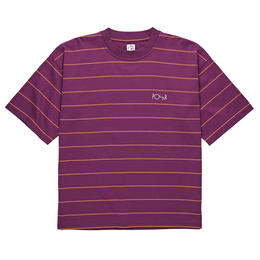 POLAR SKATE CO.  CHECKERED SURF TEE Wine / Red / Yellow