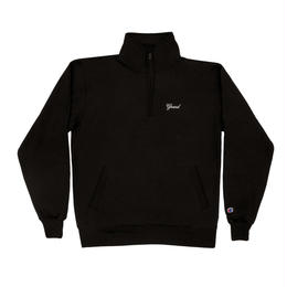 GRAND COLLECTION  Quarter Zip Black