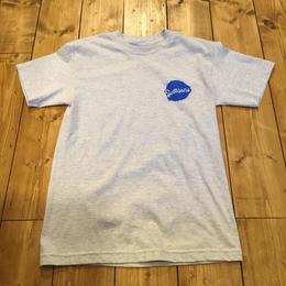Seasons Skate Shop Tee Blotch- Ash Grey/Royal Blue