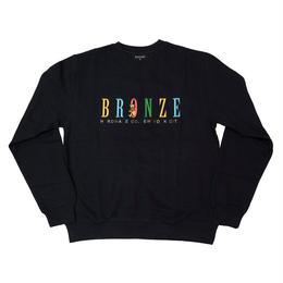BRONZE56K BEAR EMBROIDERED CREWNECK NAVY