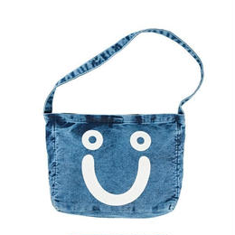 POLAR SKATE CO HAPPY SAD DENIM TOTE BAG BLUE ACID