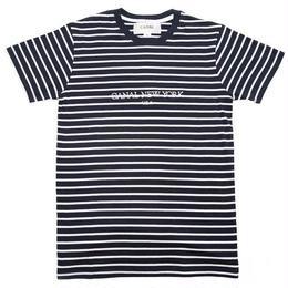 "Canal ""USA"" Striped Tee - Navy"