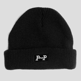 "PASS~PORT ""P~P RAISED"" BEANIE BLK"