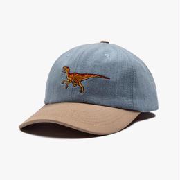 "Theobalds Cap Co. ""1993"" Baseball Cap Distressed Blue / Tan"