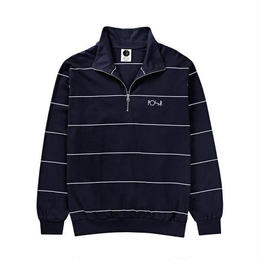 POLAR SKATE CO. STRIPED ZIP NECK (NAVY)