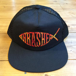 THRASHER Fish Mesh Snapback - Black