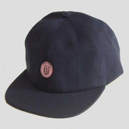 "PASS~PORT ""BARREL"" COTTON TWILL SNAP BACK NVY"