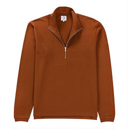 POLAR SKATE CO. PIQUE ZIP NECK - CARAMEL