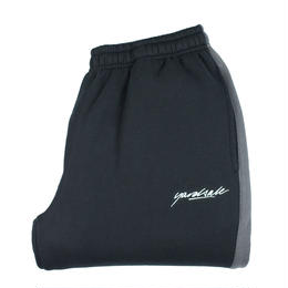 YARDSALE  2tone tracksuit bottoms Black/Grey