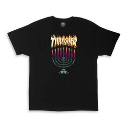 Thrasher Magazine Menorah tee in black