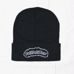 Puff Puff KNIT CAP(BLACK/WHITE)