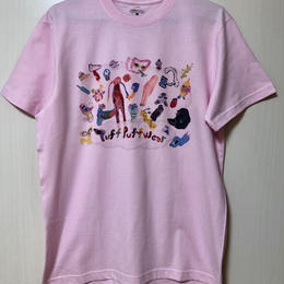 【コラボ】yokai_puff_cloud TEE  (LIGHT PINK)