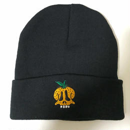 【和歌山産】蜜柑ドクロ KNIT CAP (BLACK)