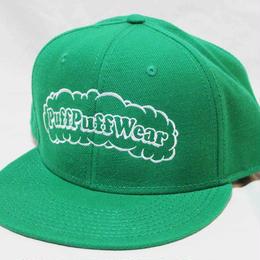 【刺繍】Puff Puff SNAPBACK CAP (GREEN)