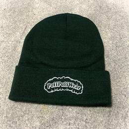 【RENEWAL】Puff Puff KNIT CAP(DARK GREEN)