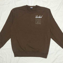 ノーポケ CREW NECK SWEAT (BROWN)