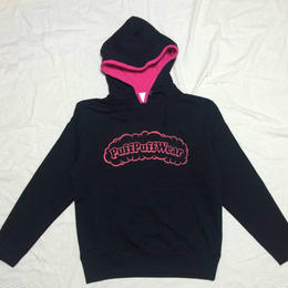 Puff Puff Two-tone HOOD PARKA (BLACK/PINK)