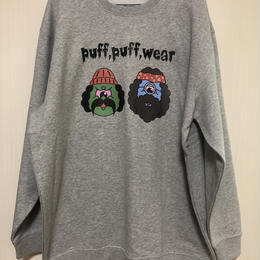 PUFF PUFF MONSTERS  CREW NECK SWEAT (GRAY)