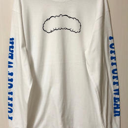 Puff Puff Cloud LONG SLEEVE TEE(WHITE)