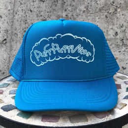 Puff Puff Kids MESH CAP (TURQUOISE BLUE/WHITE)