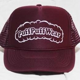 Puff Puff MESH CAP (BURGUNDY/WHITE)