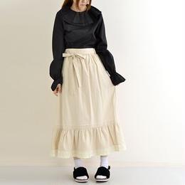 リボンベルト付きフリル巻スカート