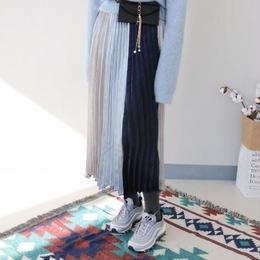 (予約)バイカラープリーツスカート