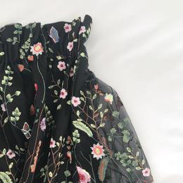 (original)チュール刺繍スカート