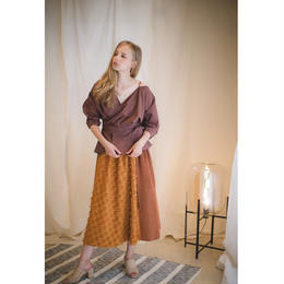 (original)スウェード切り替えスカート