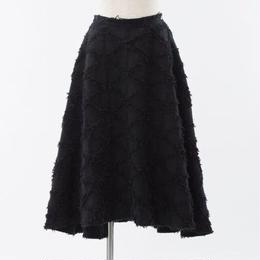 (再入荷)BLACK デニムフリンジ フレアスカート
