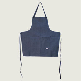 【イタリア製】胸付きショートエプロン ジーンズ エゴシェフ
