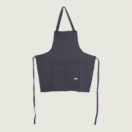 【イタリア製】胸付きショートエプロン サー(ストライプ柄)エゴシェフ