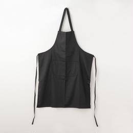 【イタリア製】胸付きシェフエプロン ブラック エゴシェフ
