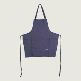 【イタリア製】胸付きショートエプロン フランス(ストライプ柄)エゴシェフ