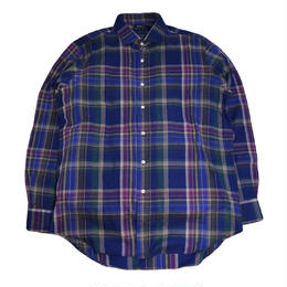 POLO RALPH LAUREN L/S CHECK SHIRTS (CLASSIC FIT) NAVY/GRN/BUG