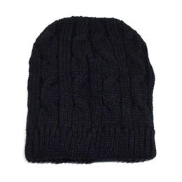 NEW YORK HAT (CABLE BEANIE) BLACK