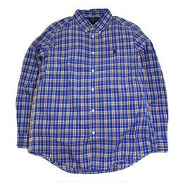 RALPH LAUREN L/S SHIRTS (BOYS B.D SHIRTS) BLUE/MULTI
