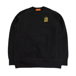 OldGoodThings CREWNECK SWEAT (LIVING IN THE REAL WORLD) BLACK