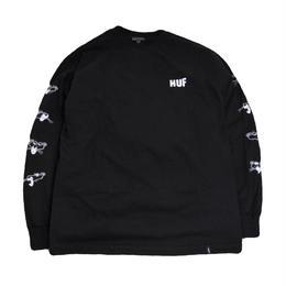 HUF L/S T-SHIRTS (HUF X PINK PANTHER) BLACK